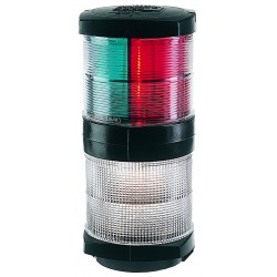 Hella Navigation Lamp  2984 - SB & PS & Masthead & 360° Tri-colour - 2NM - 12V Bulb - Black
