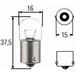 10 x Hella Light bulb - BA15s - 12V - 5W - R5 W