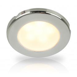 Hella EuroLED 75 LED Einbauspot RVS - 12V - Schroefmontage - Warm Weiss